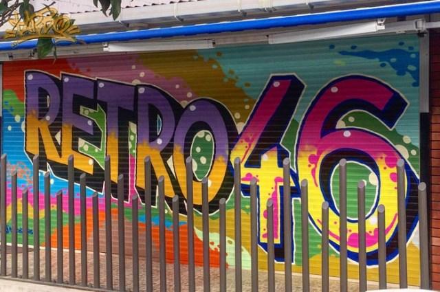 Turbo Retro46 Kepenk Graffiti