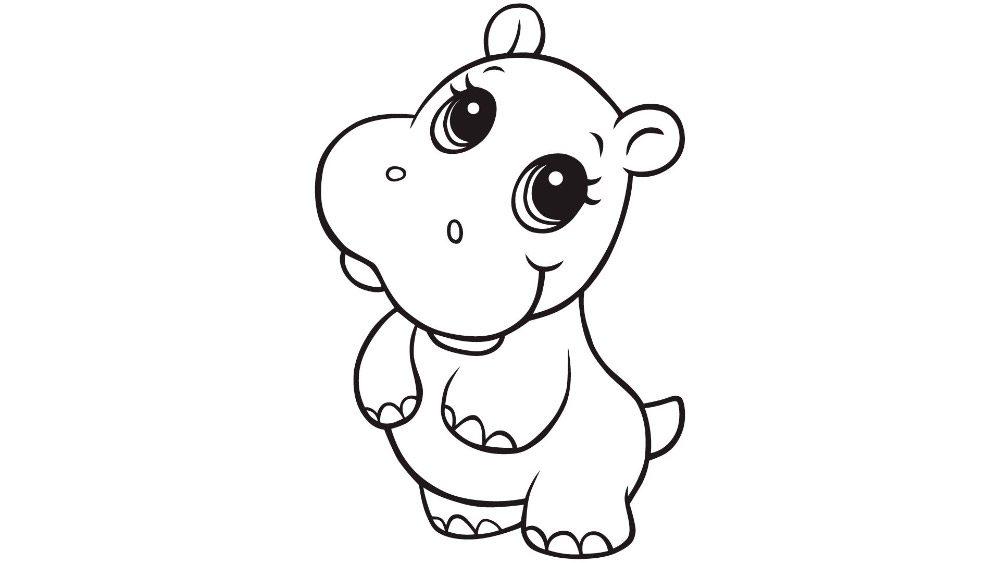 Dibujos de crias de hipopótamos :: Imágenes y fotos