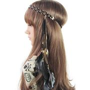 song qing women feather leaf tassels