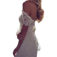 YunMan Sweetheart Off Shoulder A Line Lace Wedding Dresses Beach Bridal Gown YMD023