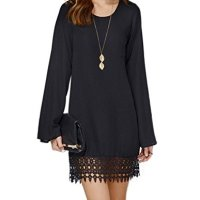 PAKULA® Women's Long Sleeve A line Lace Embellished Casual Dress