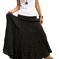 Billy's Thai Shop Plus Size Long Maxi Skirt Long Skirts for Women Cotton Skirt