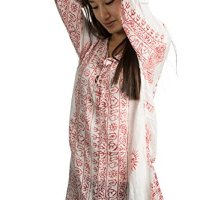 Tribe Azure Summer Hippie Boho Women's Long Sleeve Tunic Casual Blouse OM Loose Shirt Top Casual