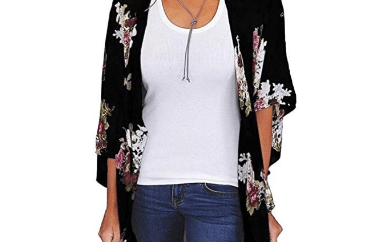 4f7403fd70 GBSELL Hippie Women Floral Loose Long Shawl Kimono Cardigan Cover up Blouse