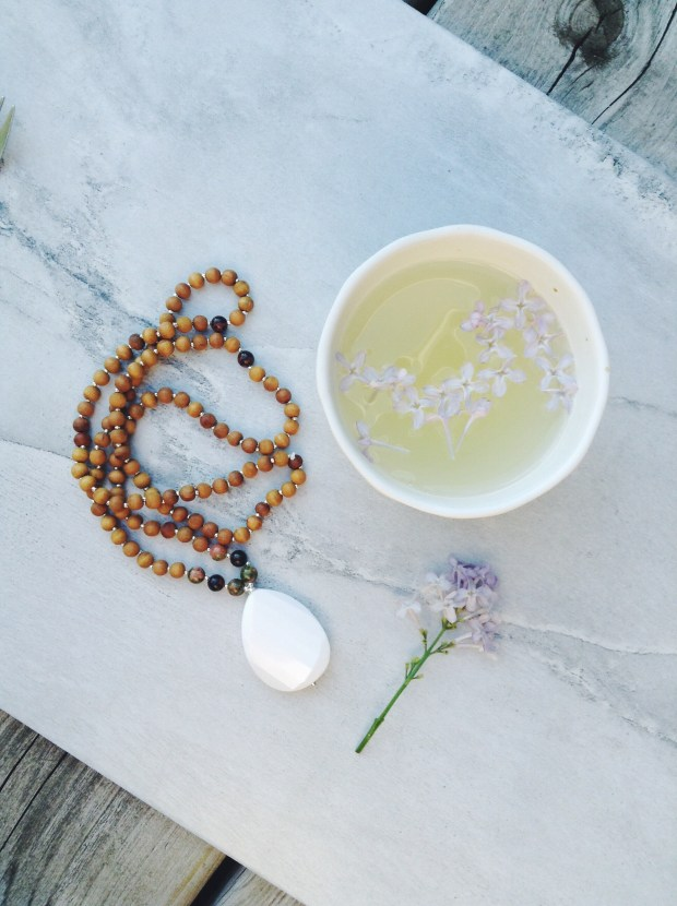 Mama Mala with lavender tea