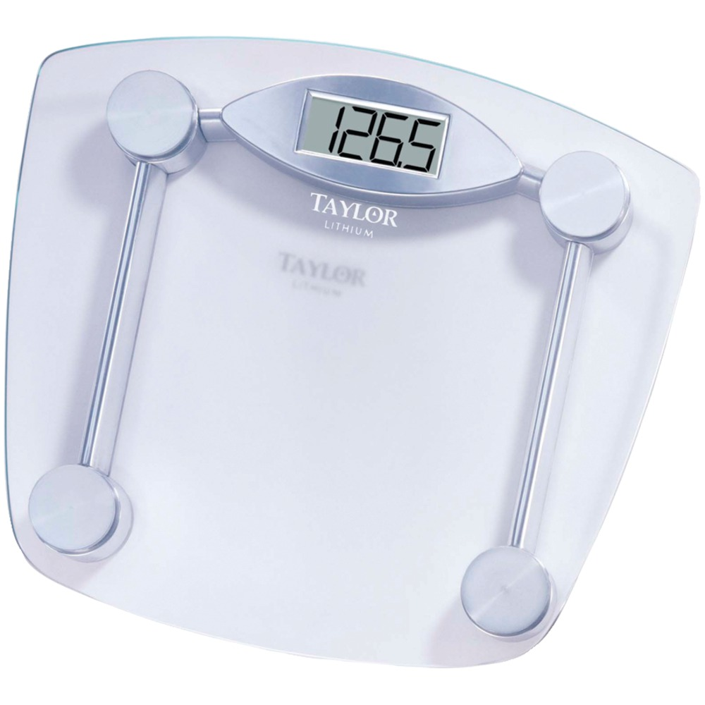 TAYLOR 7506  Chrome  Glass Lithium Digital Scale