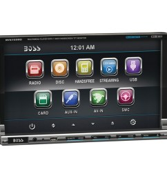 boss audio bv9759bd 7 inch double din in dash dvd receiver with bluetooth r ipod r control [ 1500 x 1500 Pixel ]