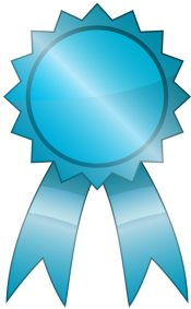 most memorable ribbon that is used on most memorable articles blue-ish shiny