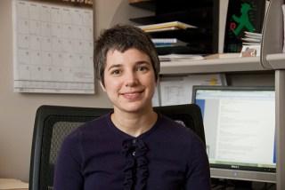 jean pretz sitting at her office