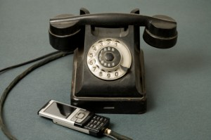 rotary phone and cell phone