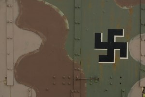 Swastika symbol on army equipment