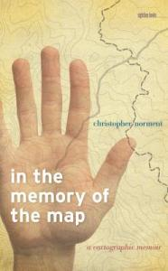 cover of in memory of the map - a hand over a map