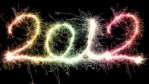 2012 spelled out with fireworks
