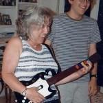 risa bye playing guitar hero