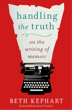 cover of handing the truth title coming out of typewriter