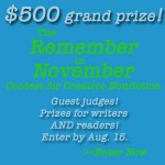 ad for remember in november contest 2014 deadline auf 15