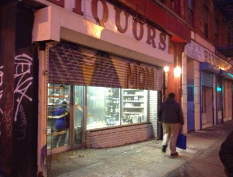 liquor store in run down neighborhood