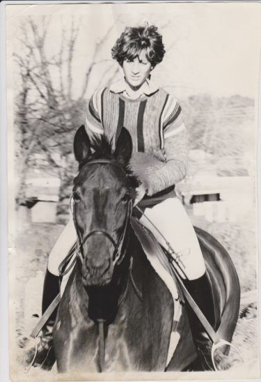 Lisa Romeo riding Tara, 1977
