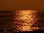 dusk over pacific ocean