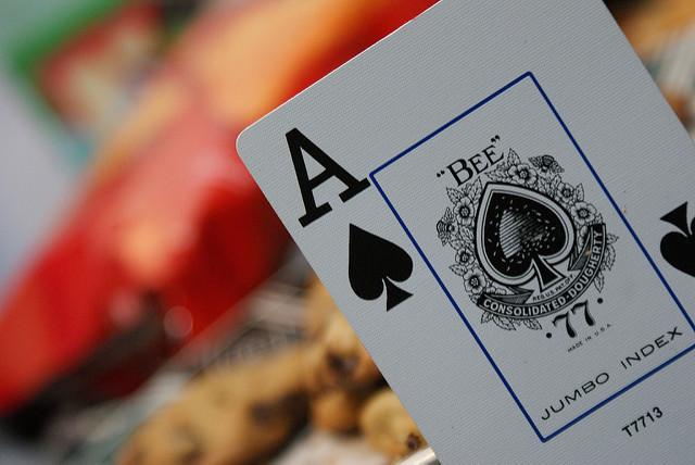Ace of spades up close