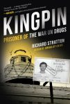 cover of kingpin the war on drugs features boat and prison id card