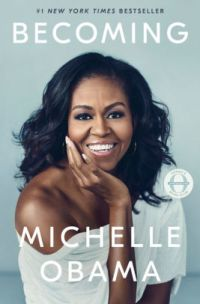 cover of becoming by michelle obama - head shot of Michelle smiling