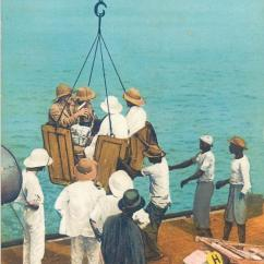 Fishing Chair Crane And A Half Slipcovers T Cushion Nigeria Lagos Mammy Western Soldier Smocking Pipe Ships Old Postcard Hippostcard