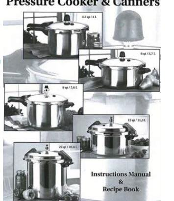 Mirro Pressure Cooker And Canner Instruction Manual And Recipe