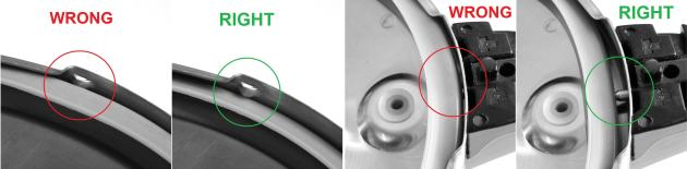 Correct gasket placement for the Magefesa Practika