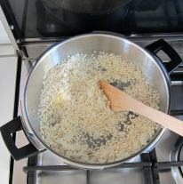 toasting rice for pressure cooker risotto