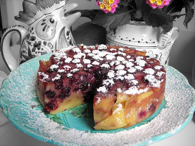 Pressure Cooker Fruit Clafoutis Cake
