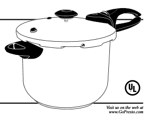 Presto Pressure Cooker Manual for model 01365
