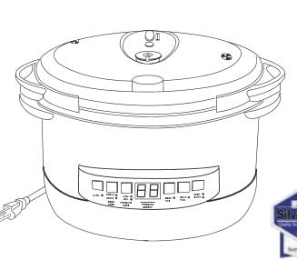 Cook's Essentials 8qt Oval Electric Pressure Cooker Manual