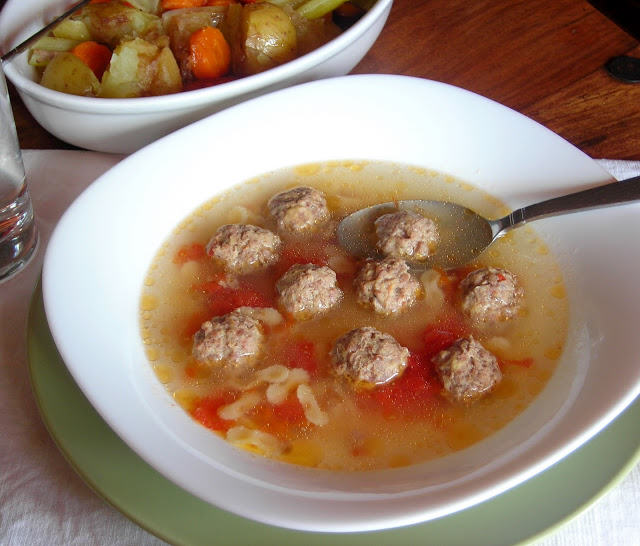 Pressure Cooker Mini Meatball Broth Soup Recipe