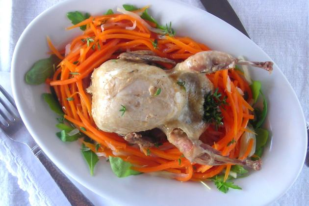 Quail and Veg PRESSURE COOKER recipe