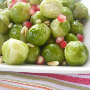 Red, White, and Green Pressure Cooker Brussels Sprouts!