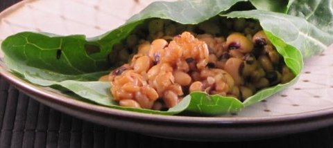 Jl S Pressure Cooker Farro Amp Beans In Collard Green Wraps