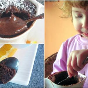 Chocolate, Orange & Olive Oil Mini Lava Cake