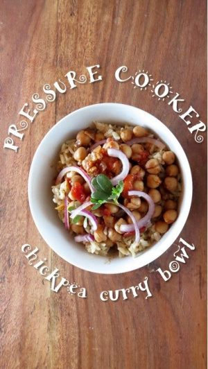 Instant Pot Chickpea Curry Rice Bowl