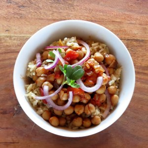 pressure cooker chickpea curry and brown rice recipe