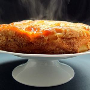 DELISH! Pressure Cooked Upside-down Apple and Ricotta Cake