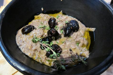 Pressure Cooked Eggplant and Black Olive Dip from the class.