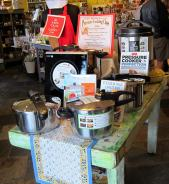 Pressure cooker display at Toque Blanche