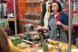 """Laura Pazzaglia explains the """"switcharoo"""" for electric cooktops."""