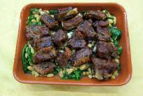 BBQ Ribs with bean salad