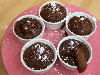 Naughty chocolate olive oil baby cakes