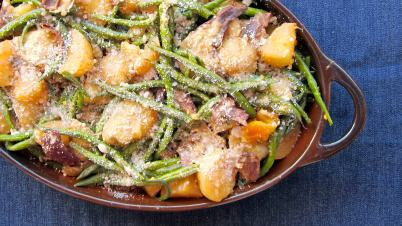Pressure Cooked Green Bean, Potato & Mushroom Casserole