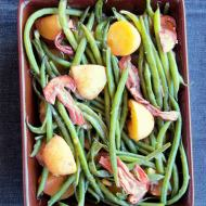Warm Green Bean Salad with Mushrooms and Potatoes - pressure cooker recipe