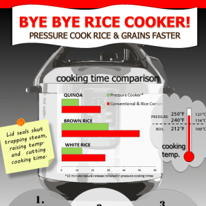 Bye, Bye Rice Cooker?!? Pressure cook rice and grains faster!