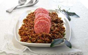 Italian New Year's Eve Tradition Pressurecookerized! Pork Sausage & Lentils